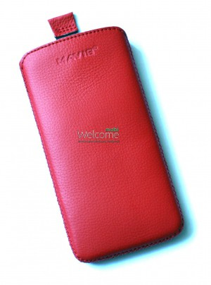Чехол кожа  Mavis Classic Flotar Red HTC 801e One (75x145)
