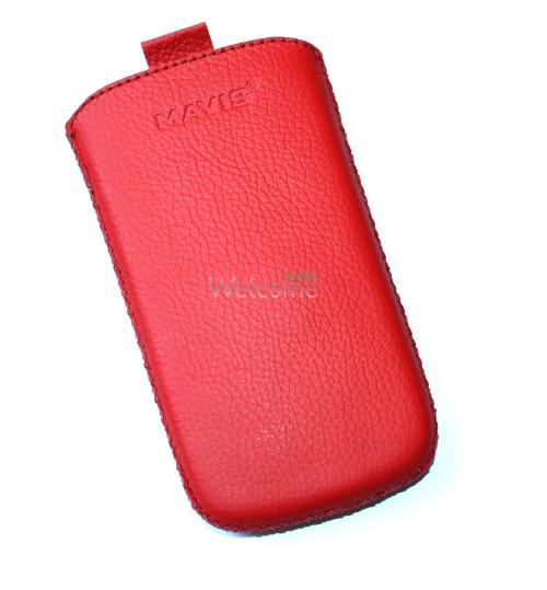 Чехол кожа  Mavis Classic Flotar Red Lenovo A66 (70x120)
