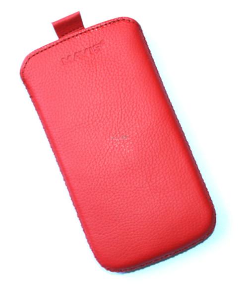Чехол кожа  Mavis Classic Flotar Red Lenovo A760 (75x140)