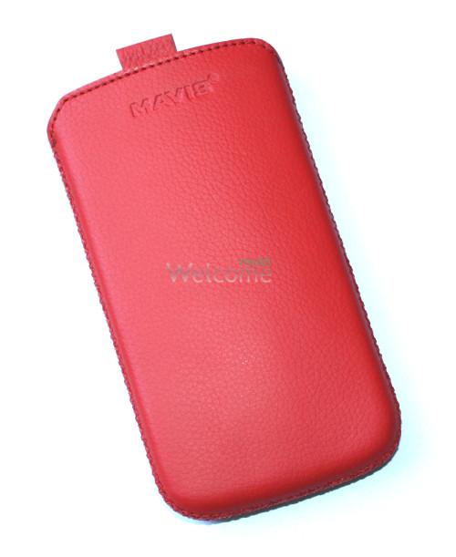 Чехол кожа  Mavis Classic Flotar Red Lenovo A800 (75x135)