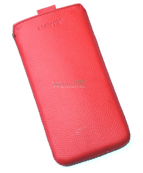 Чехол кожа  Mavis Classic Flotar Red Lenovo K900 (85x165)