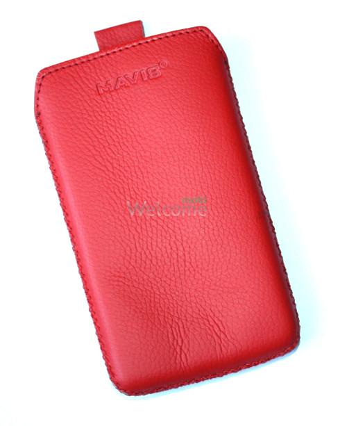 Чехол кожа  Mavis Classic Flotar Red LG L5 Optimus,L5 Optimus Dual (E612,E615)-(75x130)