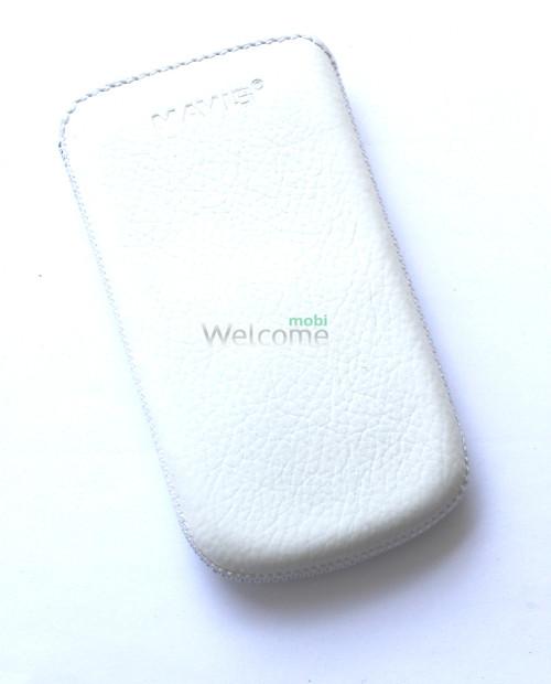 Чехол кожа  Mavis Classic Flotar White HTC T328w (70x125)