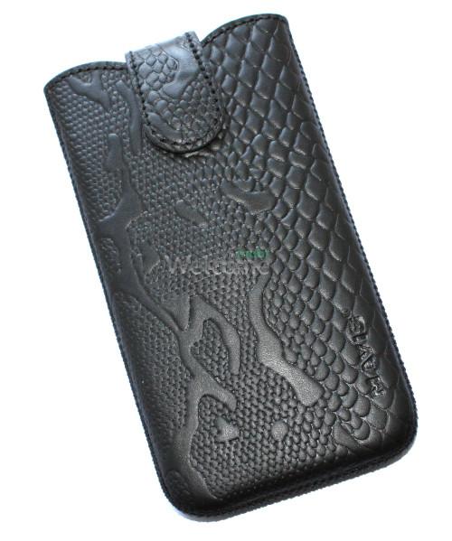 Чехол кожа Mavis Classic Python Black 11 Nokia 925,Lenovo S820 (80x145)
