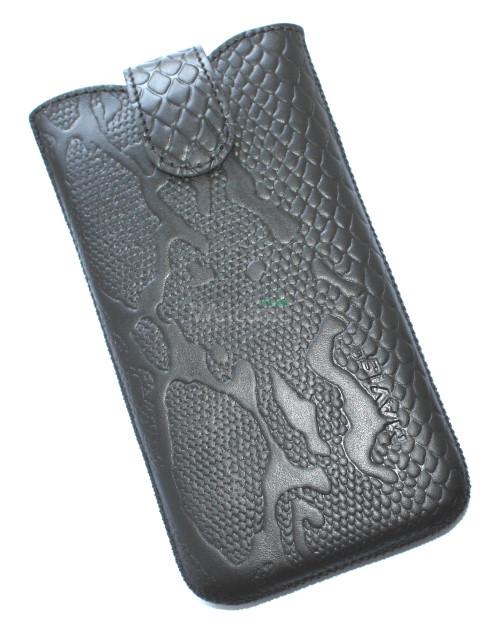 Чехол кожа Mavis Classic Python Black 12 Samsung G900,Lenovo S960 (80x150)