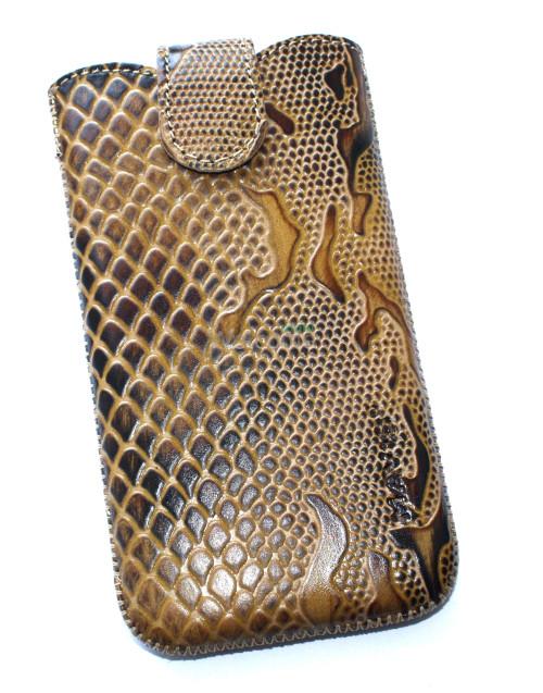 Чехол кожа Mavis Classic Python Brown 11 Nokia 930,Lenovo S820 (80x145)