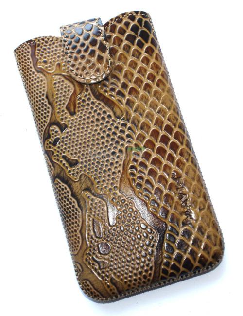 Чехол кожа Mavis Classic Python Brown 12 Samsung G900,Lenovo S960 (80x150)
