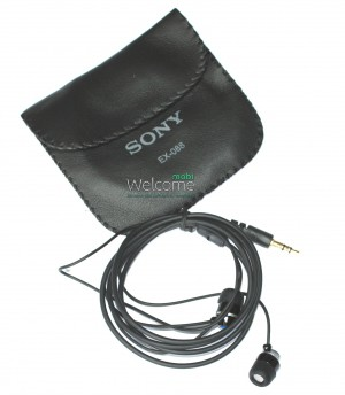 Наушники вакуумные метал Sony EX-088 black+чехол