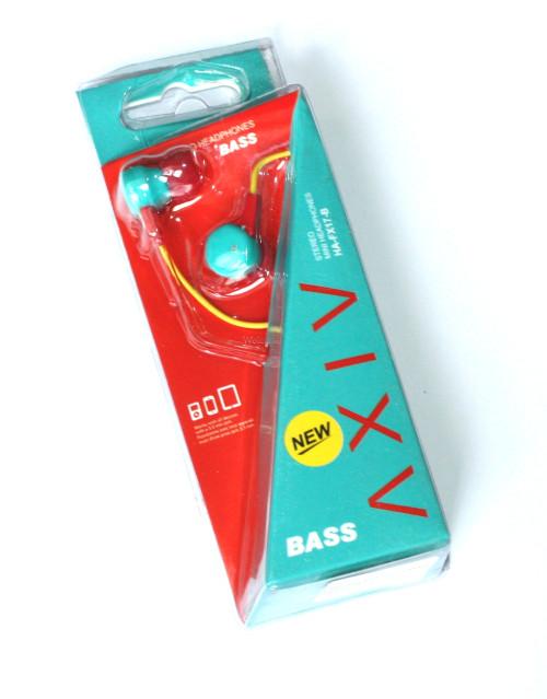 Наушники вакуумные AXIV HA-FX17-B green,red