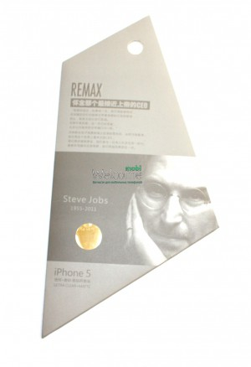 Защитная пленка iPhone5 Remax Steve Jobs комплект матовая + глянец