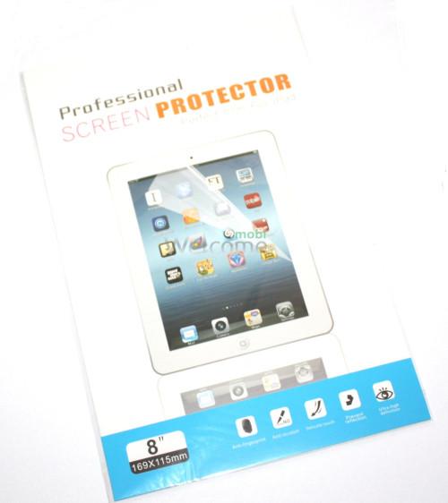 Защитная пленка 8 дюйм глянец (экран) + ткань для протирки
