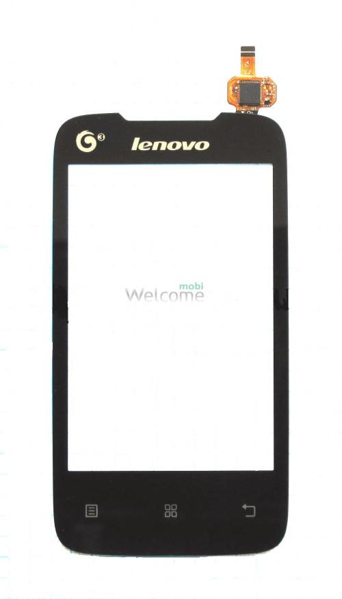 Сенсор Lenovo A208 black