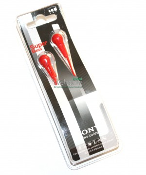 Наушники вакуумные Sony Super Bass S203 red