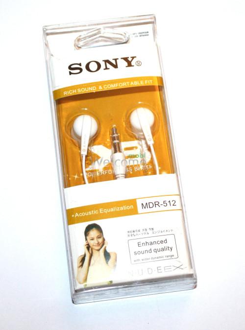 Наушники вакуумные Sony MDR-512 white