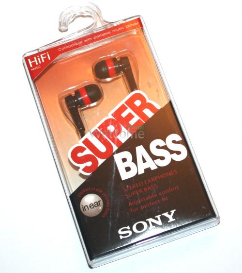 Наушники вакуумные Sony Bass MDR-2202SL black,red