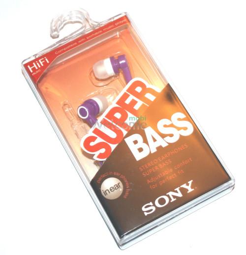 Наушники вакуумные Sony Bass MDR-2202SL violet,white