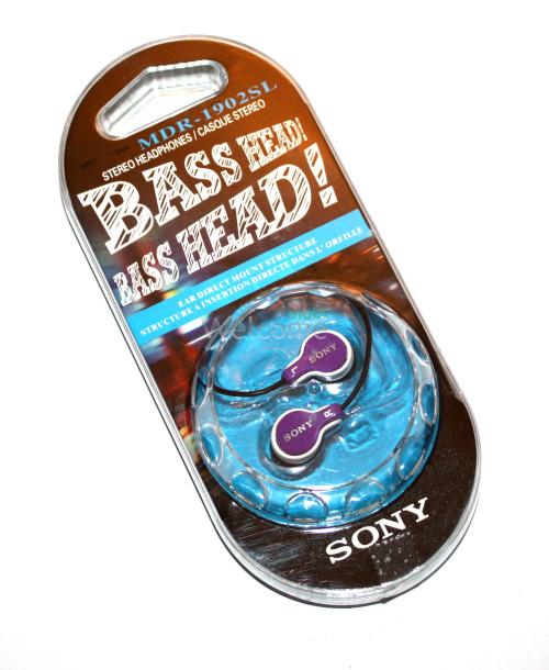 Наушники вакуумные Sony Bass Head EV-1901-02SL violet,white