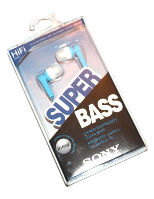 Наушники вакуумные Sony Super Bass MDR-2201SL blue,white