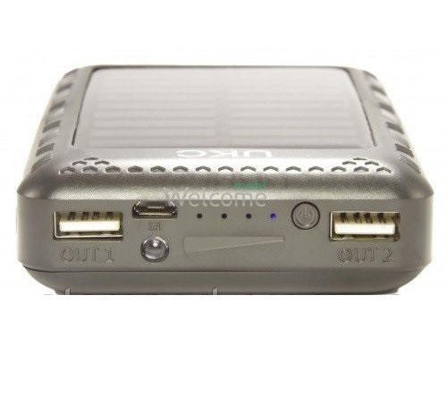 Внешний аккумулятор (power bank) Solar charger UKC 18800mAh 2USB (2A+1A)+LED 20 smd (три режима)