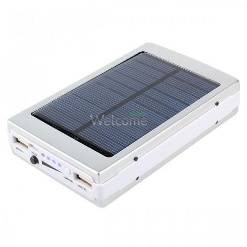 Внешний аккумулятор (power bank) Solar charger UKC 15000mAh 3USB (1А+1А+1А)+LED 4 smd