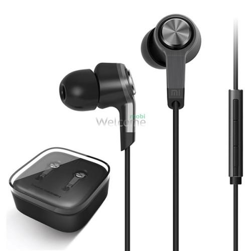 Наушники вакуумные метал Xiaomi MI5 black+mic (гарнитура)