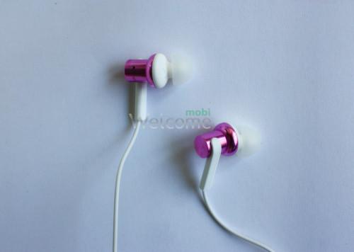 Наушники вакуумные метал Xiaomi MI7 pink+mic (гарнитура)