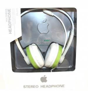 Наушники Apple PG-510 white,green  (для iPhone) дуга
