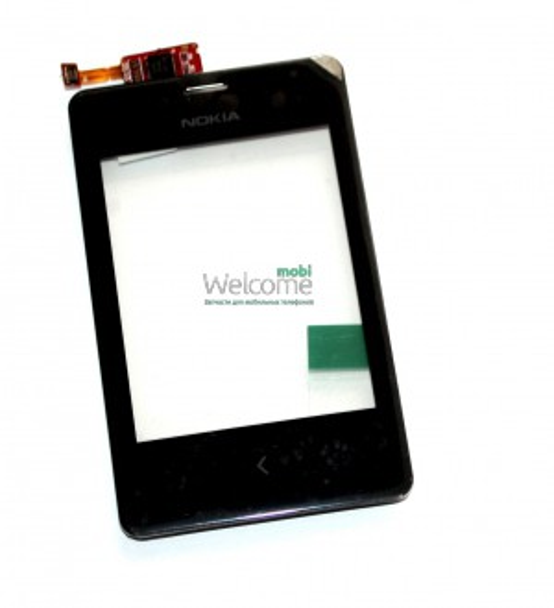 Сенсор Nokia 502 Asha Dual Sim black with frame orig