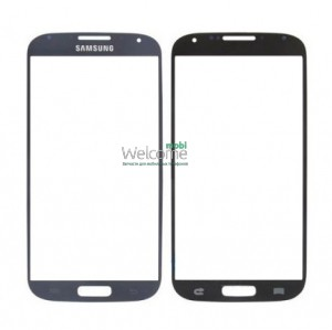 Стекло корпуса Samsung I9500 Galaxy S4 blue orig