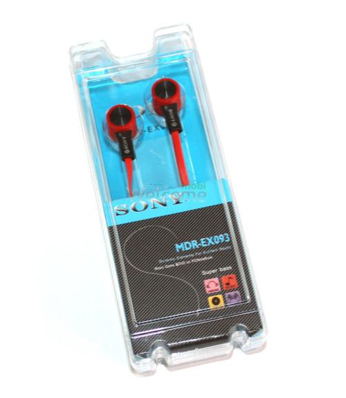 Наушники вакуумные Sony MDR-EX093 black,red
