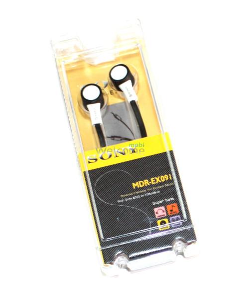 Наушники вакуумные Sony MDR-EX091,095 white,black