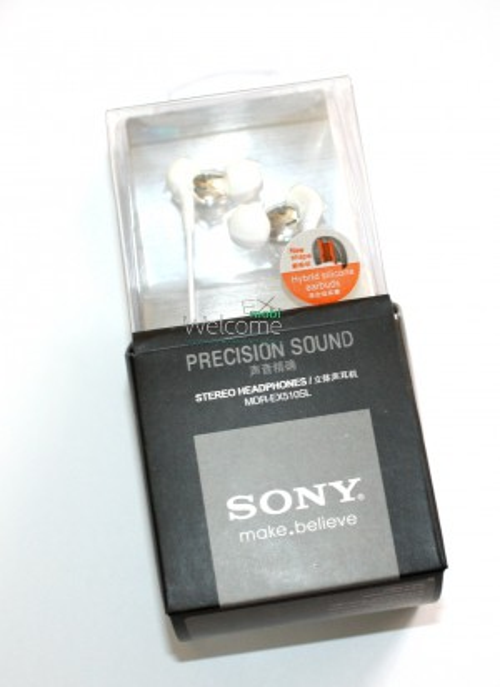 Наушники вакуумные Sony make.believe MDR-EX510SL white