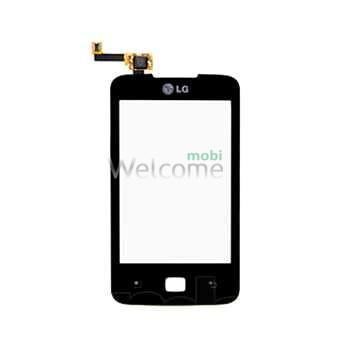 Сенсор LG E510 black Optimus Hub high copy