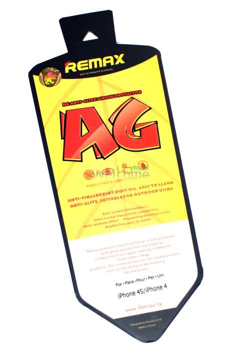 Защитная пленка iPhone4,4s Remax матовая