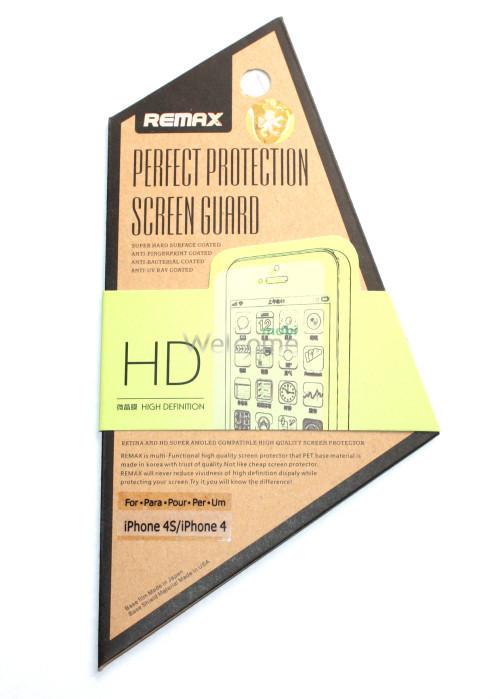 Защитная пленка iPhone4,4s Remax HD глянцевая (экран+задняя крышка)