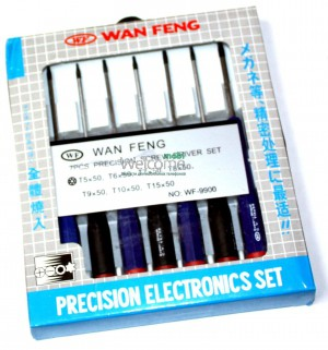 Набор отверток WAN FENG  Professional screw dtiver set 7pcs №WF-9900