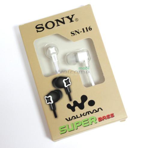 Наушники вакуумные Sony SN-116 white