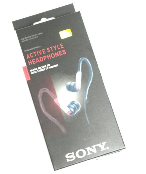 Наушники вакуумные Sony MDR-AS40EX black,blue дуга спорт