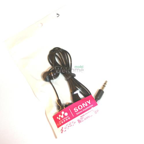 Наушники вакуумные Sony WalkMan в пакете black