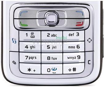 Клавиатура Nokia N73 silver