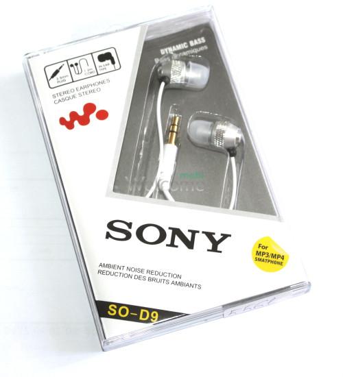 Наушники вакуумные Sony SO-D9 metal silver