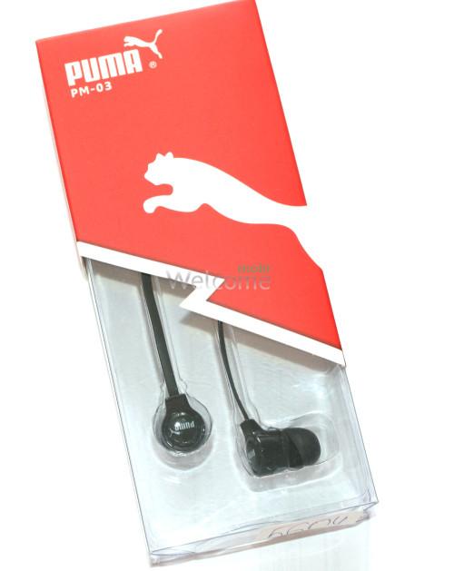Наушники вакуумные Puma PM-03 black