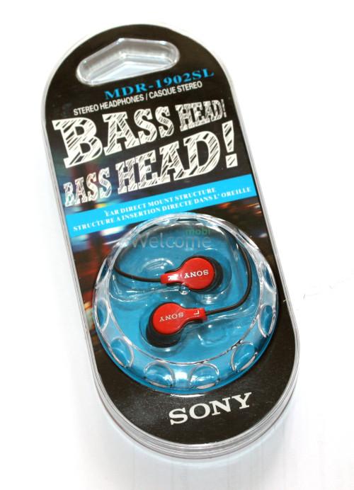 Наушники вакуумные Sony Bass Head EV-1901-02SL red,black