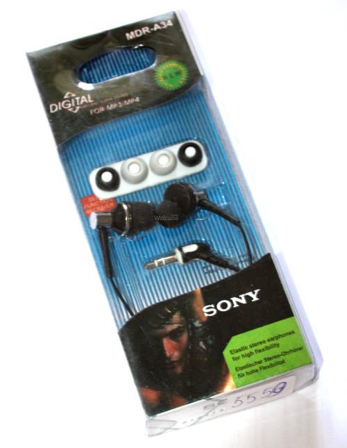 Наушники вакуумные Sony MDR-A34 black