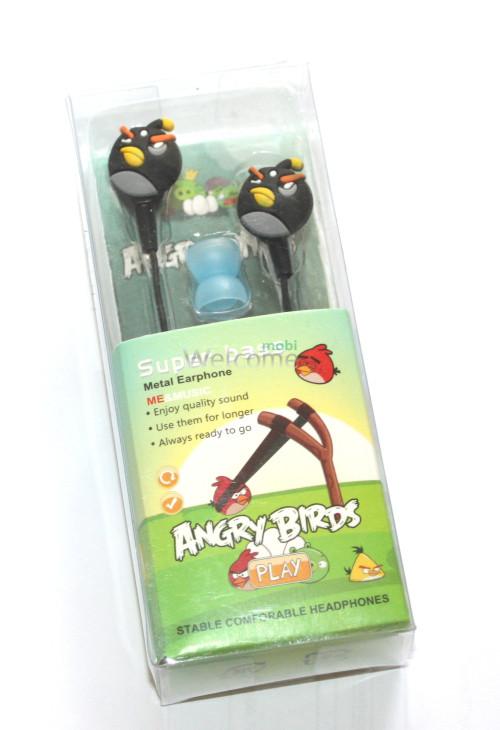 Наушники вакуумные AngriBirds EM-405 black