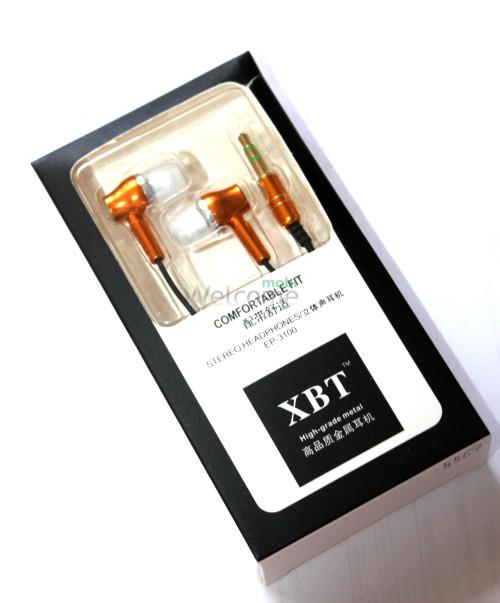 Наушники вакуумные XBT EP-3100 metal gold