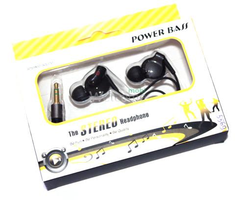 Наушники вакуумные Power Bass black