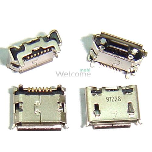 Коннектор зарядки Samsung i9100,S5600 orig (5 шт.)