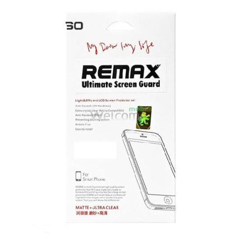 Защитная пленка iPhone6 Plus Remax комплект матовая + глянец (2 шт)