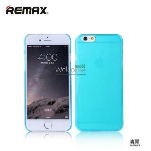 Чехол Remax Ultrathin iPhone 6 силикон прозрачный blue 0.2mm